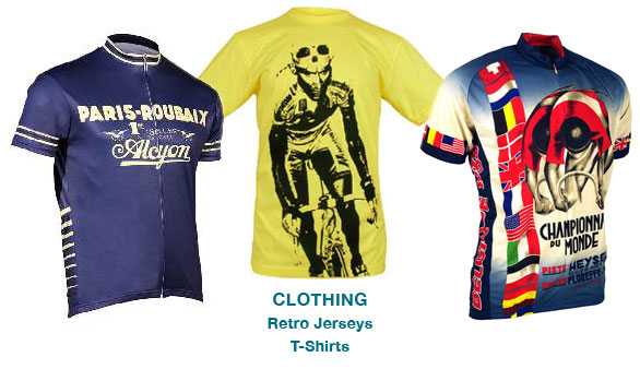 Cycling t-shirts and retro jerseys from Bromley Video