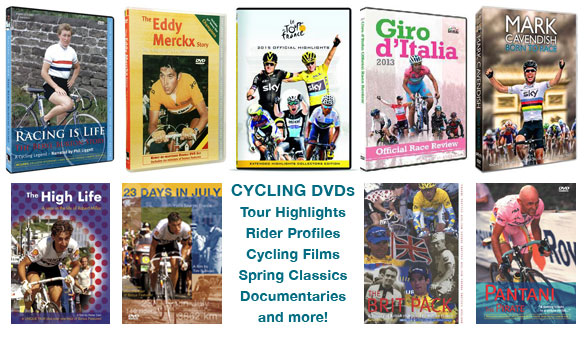 A huge selection of cycling DVDs from Bromley Video